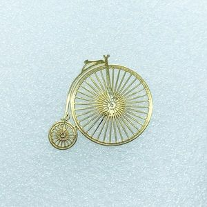 Antique Style Bicycle Tie Tack Lapel Hat Pin
